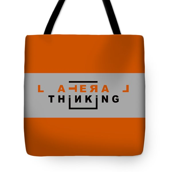 Lateral Thinking Tote Bag by Mal Bray