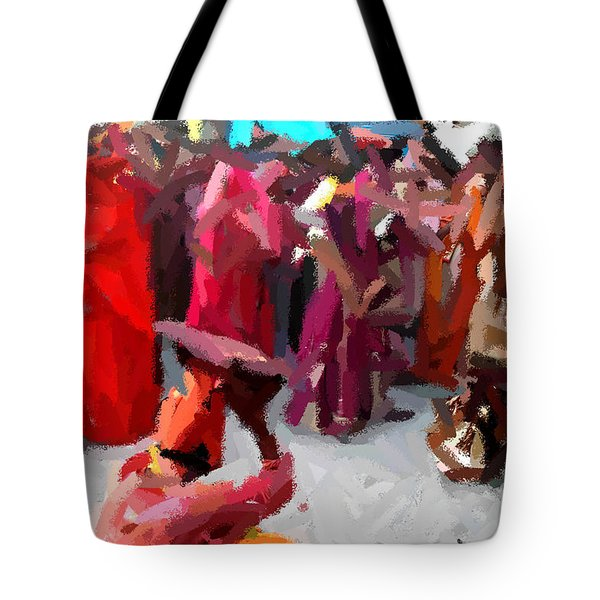 Lathmaar Holi Of Barsana-2 Tote Bag