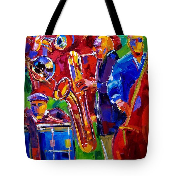 Latin Music Tote Bag by Debra Hurd