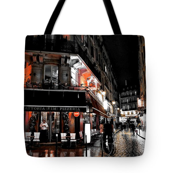Latin Quarter Pizza Fusion Tote Bag by John Rizzuto