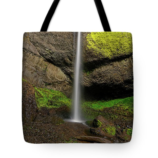 Tote Bag featuring the photograph Latourell Falls by Jonathan Davison