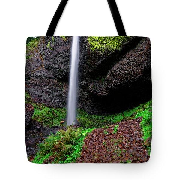 Latourell Falls Oregon Tote Bag by Jonathan Davison