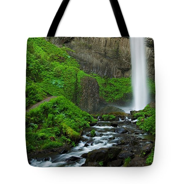 Latourell Falls Oregon Tote Bag