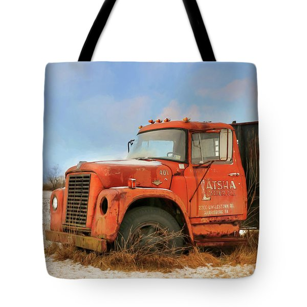 Tote Bag featuring the photograph Latsha Lumber Truck by Lori Deiter