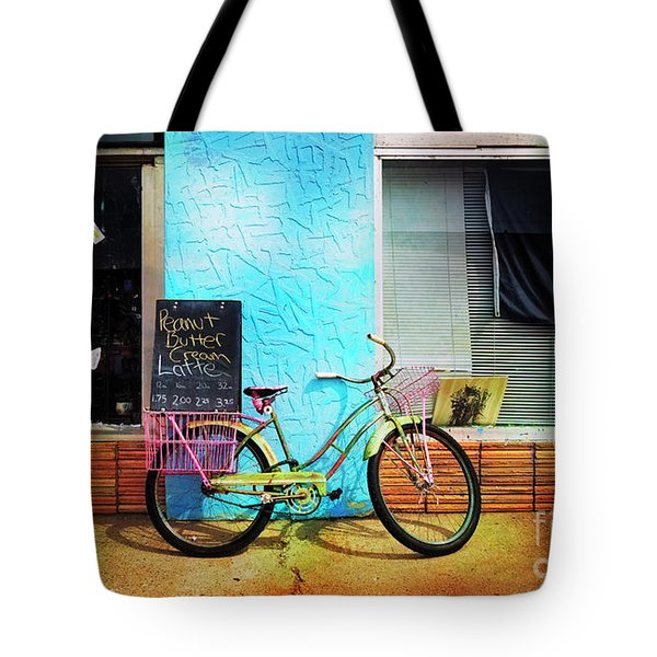 Latte Love Bicycle Tote Bag