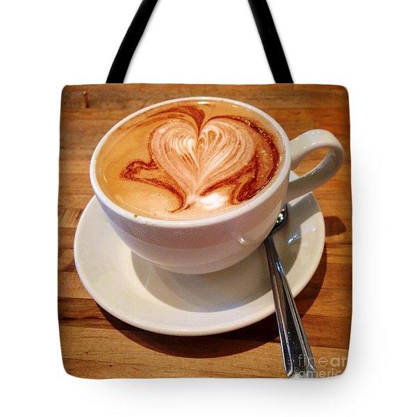 Latte Love Tote Bag by Susan Garren
