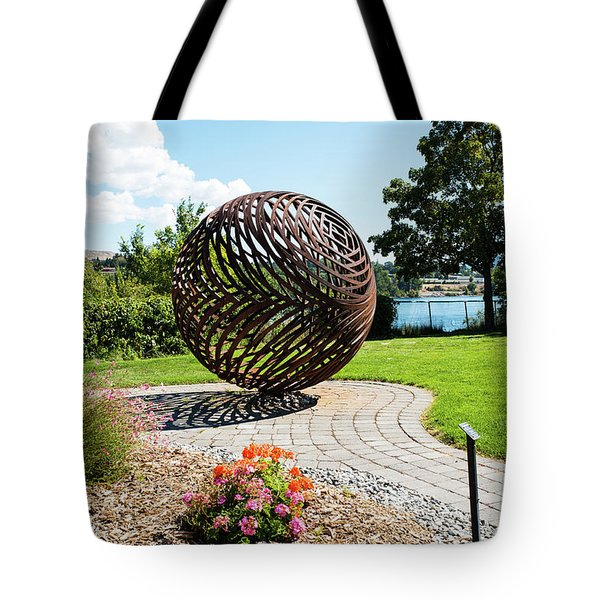 Latticed Iron Ball With Shadow Tote Bag