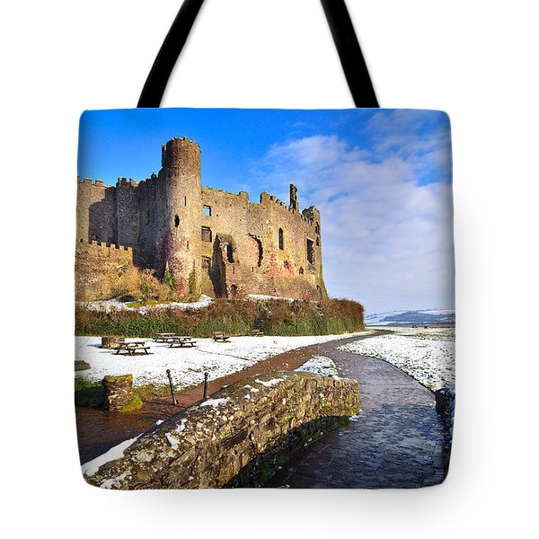 Laugharne Castle 2 Tote Bag