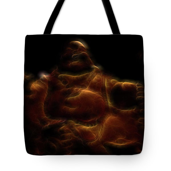 Laughing Buddha Light Tote Bag by William Horden