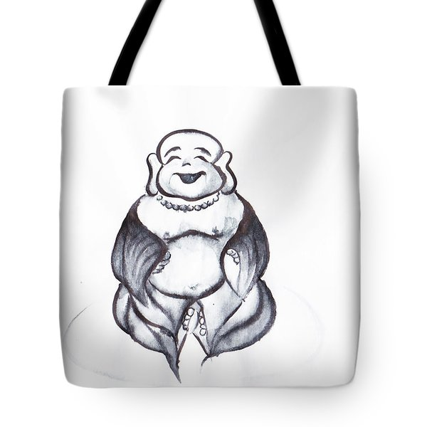 Laughing Buddha Tote Bag by Oiyee At Oystudio