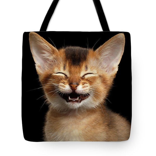 Laughing Kitten  Tote Bag