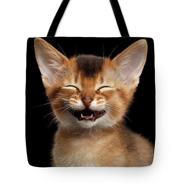 Laughing Kitten  Tote Bag