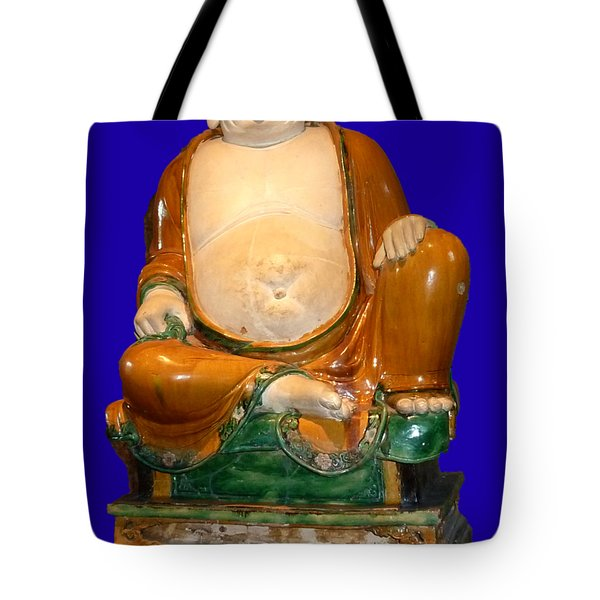 Laughing Monk Tote Bag