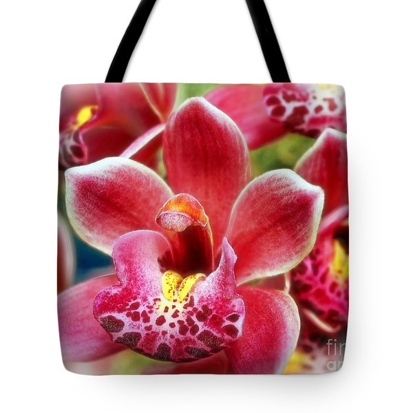 Laughing Orchids Tote Bag