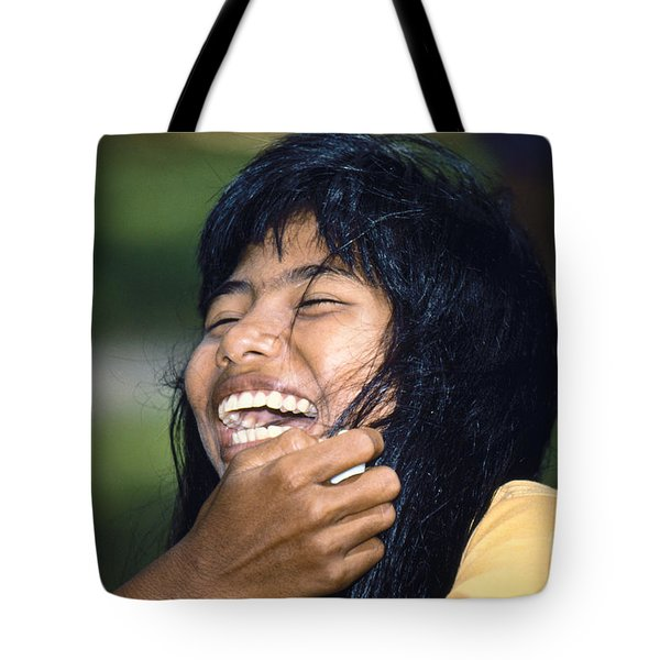 Tote Bag featuring the photograph Laughing Out Loud by Heiko Koehrer-Wagner