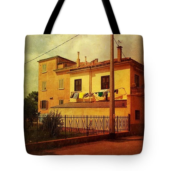 Tote Bag featuring the photograph Laundry Day by Anne Kotan