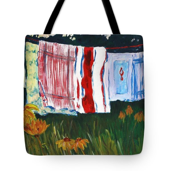 Laundry Day At Le Vieux Tote Bag by Tara Moorman