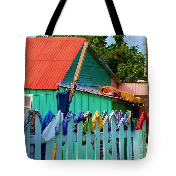 Laundry Day Tote Bag by Debbi Granruth