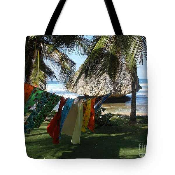 Laundry Day In Barbados Tote Bag