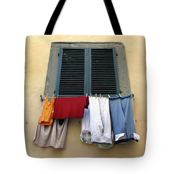 Tote Bag featuring the photograph Laundry Day by KG Thienemann