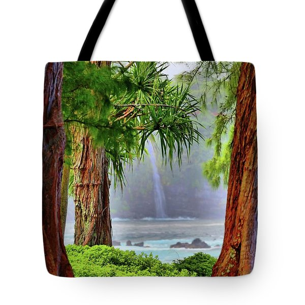 Tote Bag featuring the photograph Laupahoehoe Hawaii by DJ Florek