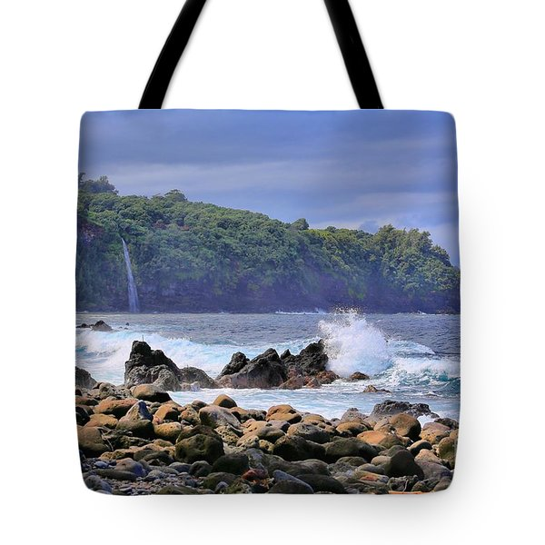 Tote Bag featuring the photograph Laupahoehoe Point by DJ Florek