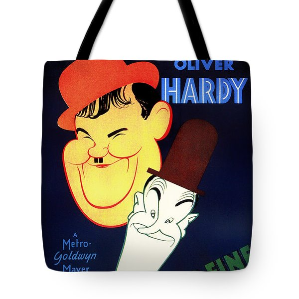 Laurel And Hardy - Another Fine Mess 1930 Tote Bag