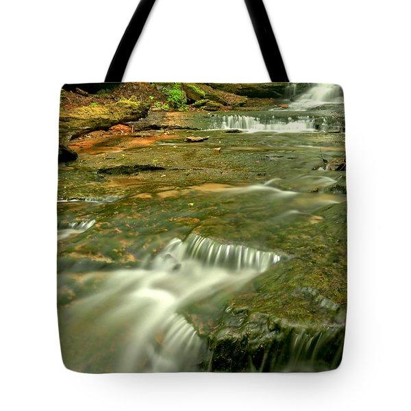 Laurel Highlands Waterfall Portrait Tote Bag