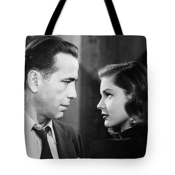 Lauren Bacall Humphrey Bogart Film Noir Classic The Big Sleep 2 1945-2015 Tote Bag by David Lee Guss