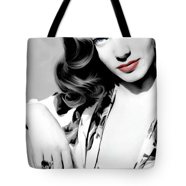 Lauren Bacall Large Size Portrait 2 Tote Bag