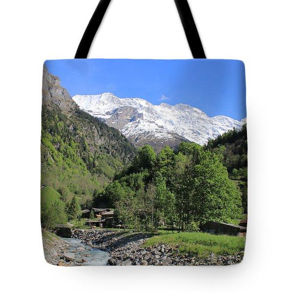 Lauterbrunnen Valley Switzerland Tote Bag