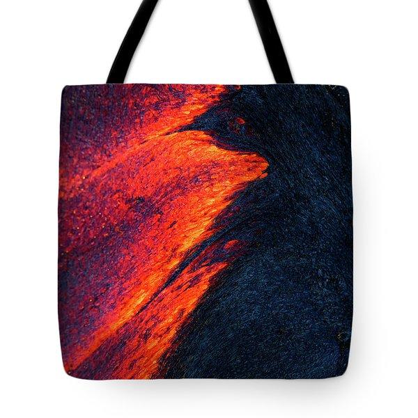 Lava Abstract Tote Bag