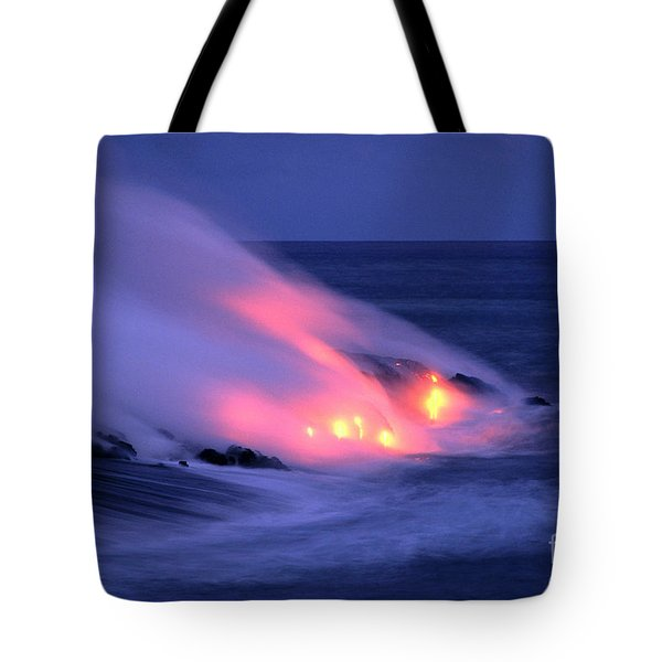 Lava And Pink Smoke Tote Bag by William Waterfall - Printscapes