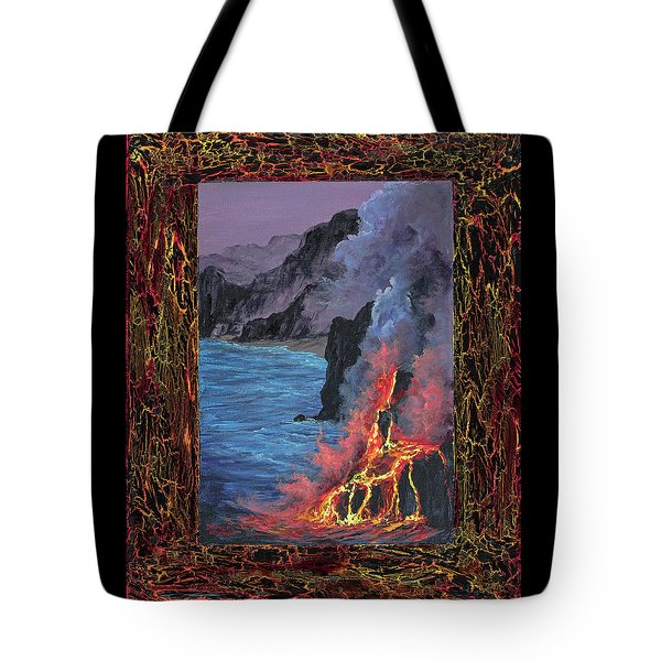 Tote Bag featuring the painting Lava Flow by Darice Machel McGuire