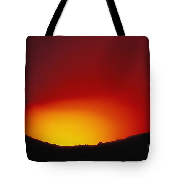 Lava Flows At Night Tote Bag by William Waterfall - Printscapes