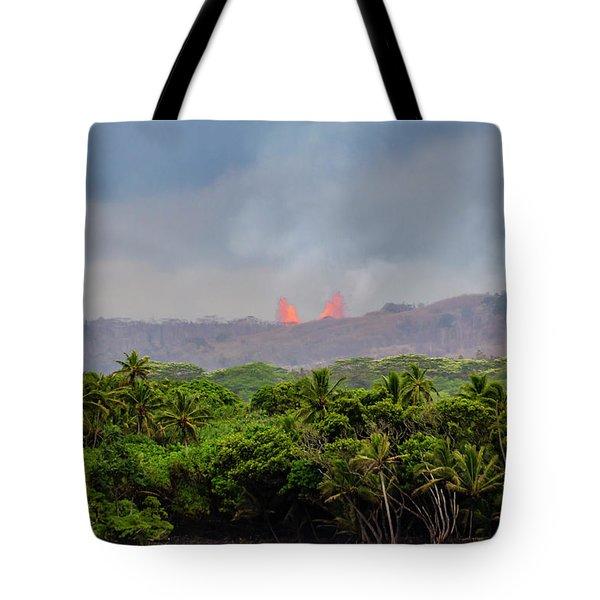 Lava Fountain Tote Bag