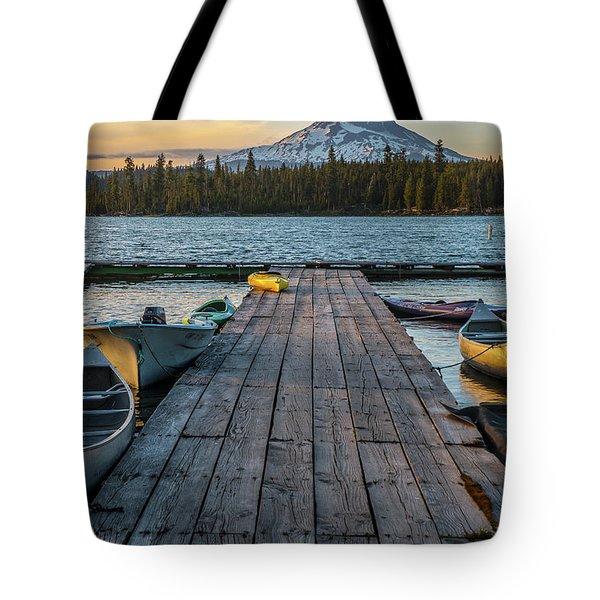 Lava Lake Evening  Tote Bag
