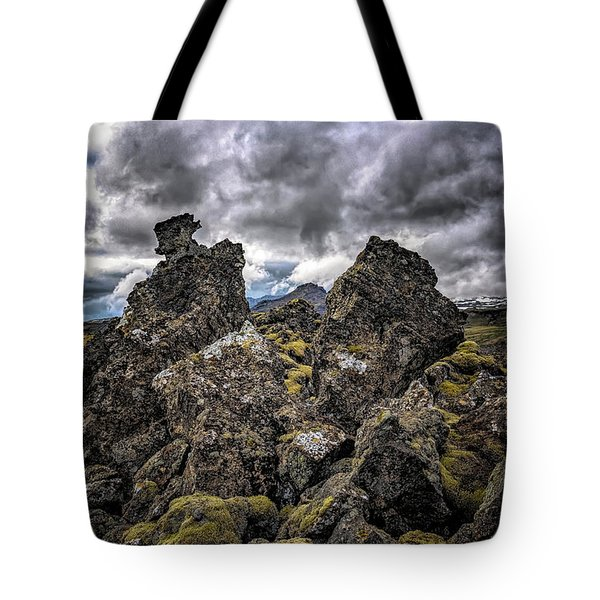 Lava Rock And Clouds Tote Bag