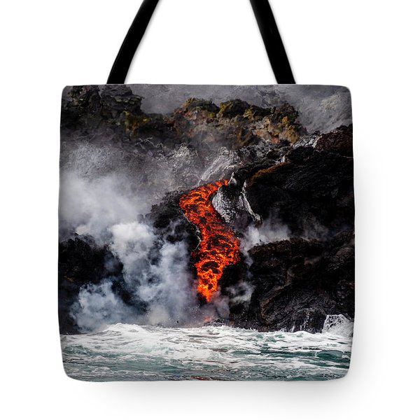 Lava Snake Tote Bag