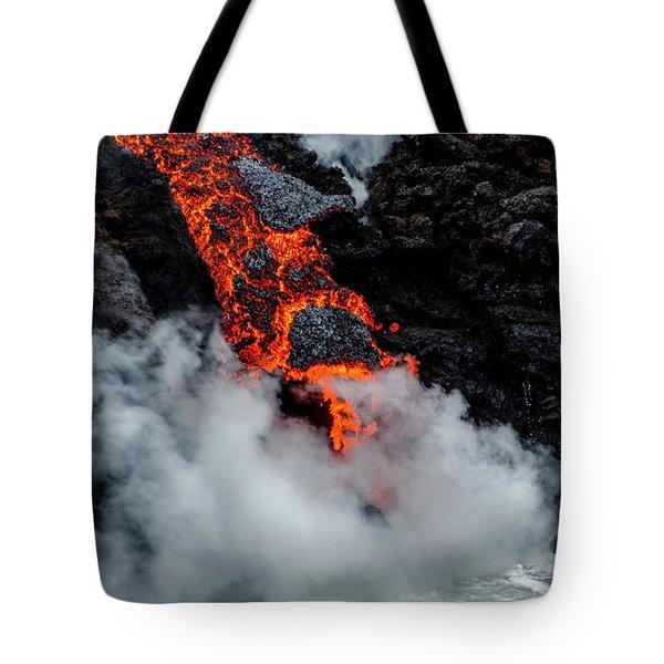 Lava Train Tote Bag