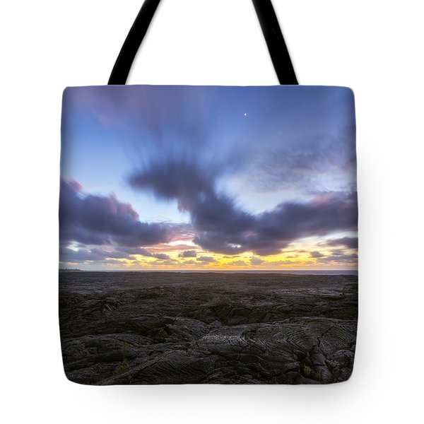 Tote Bag featuring the photograph Lava Twilight by Ryan Manuel