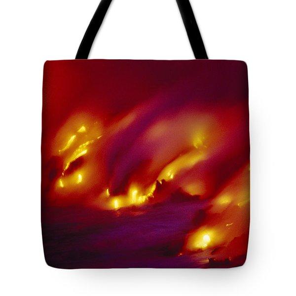 Lava Up Close Tote Bag
