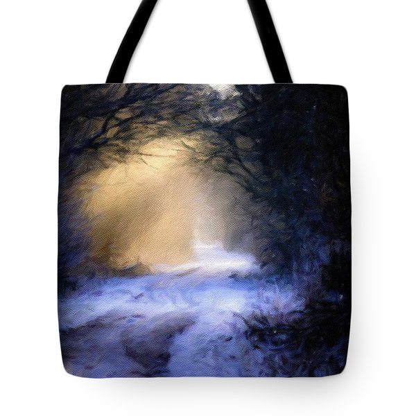 Lavander Snow  Tote Bag