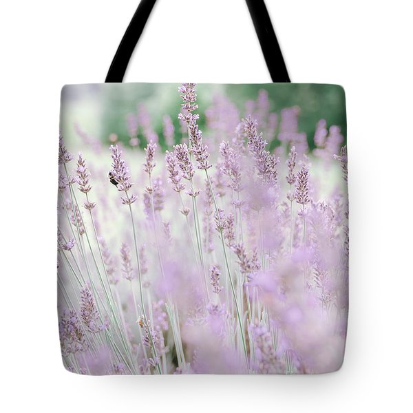 Tote Bag featuring the photograph Lavender 6 by Andrea Anderegg