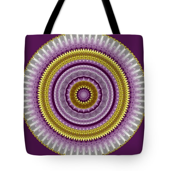 Lavender And Gold Lace Tote Bag