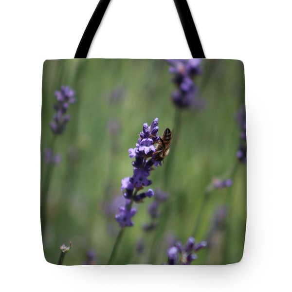 Lavender And Honey Bee Tote Bag