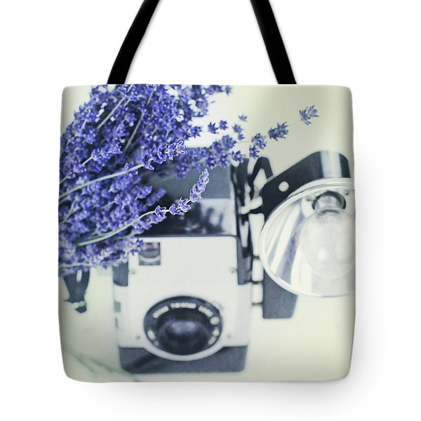 Lavender And Kodak Brownie Camera Tote Bag