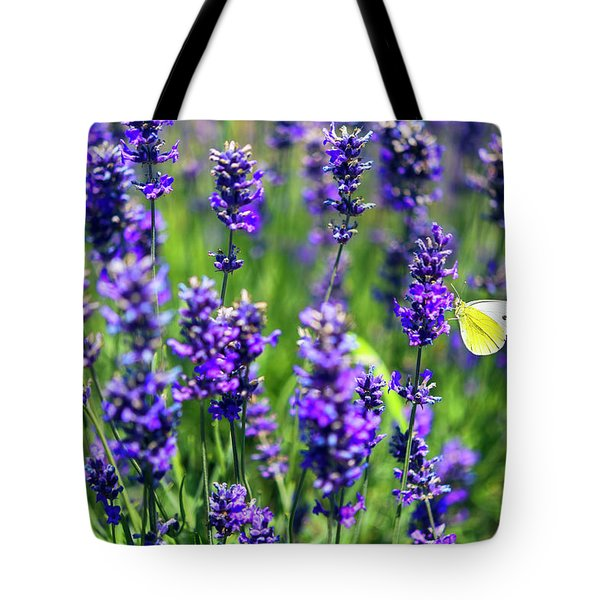 Tote Bag featuring the photograph Lavender And The Heart by Ryan Manuel