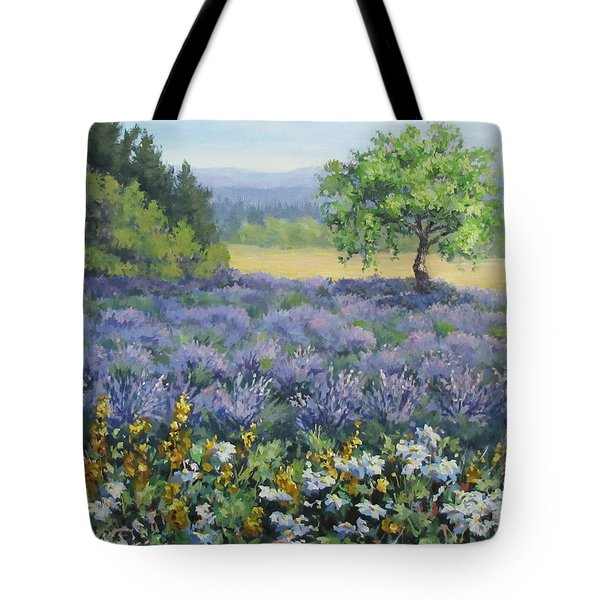 Lavender And Wildflowers Tote Bag