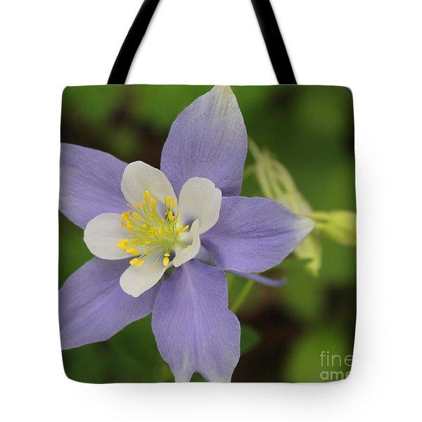 Lavender Blue Wild Columbine Tote Bag